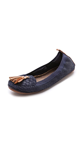 Yosi Samra Croc Embossed Loafers