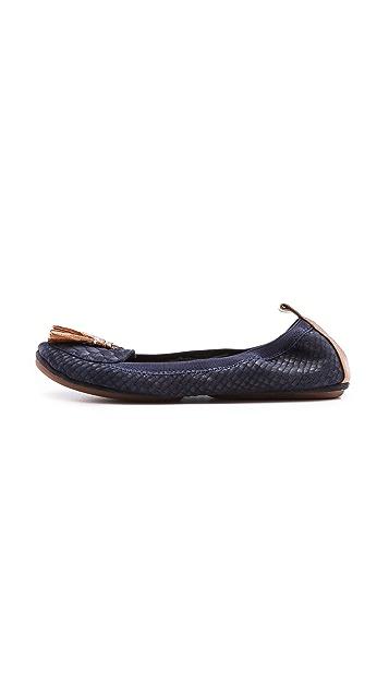 Yosi Samra Croc Embossed Loafers