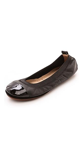 Yosi Samra Samantha Cap Toe Flats - Black/Black