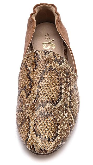 Yosi Samra Preslie Snake Loafers