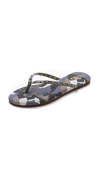 Yosi Samra Roee Studded Camo Flip Flops