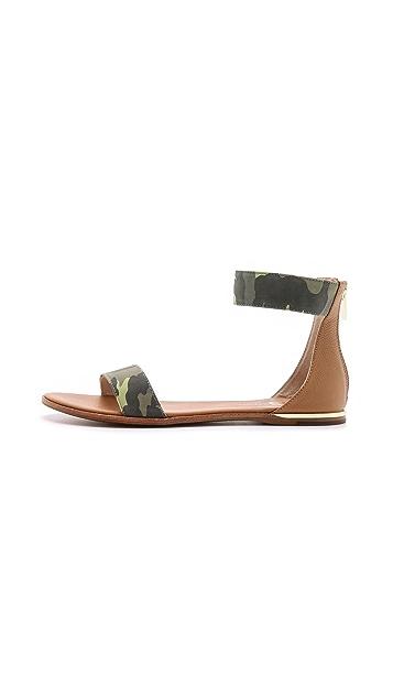 Yosi Samra Cambelle Camo Flat Sandals