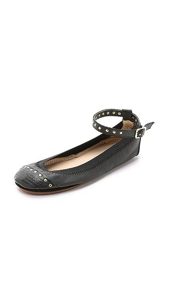 Kupi Yosi Samra online i prodaja Yosi Samra Abbey Cap Toe Ballet Flats Black/Black haljinu online