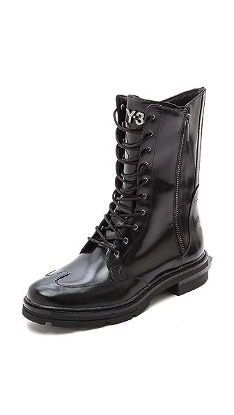 Y-3 Jones II Combat Boots