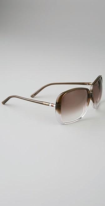 Saint Laurent Brown Ombre Sunglasses