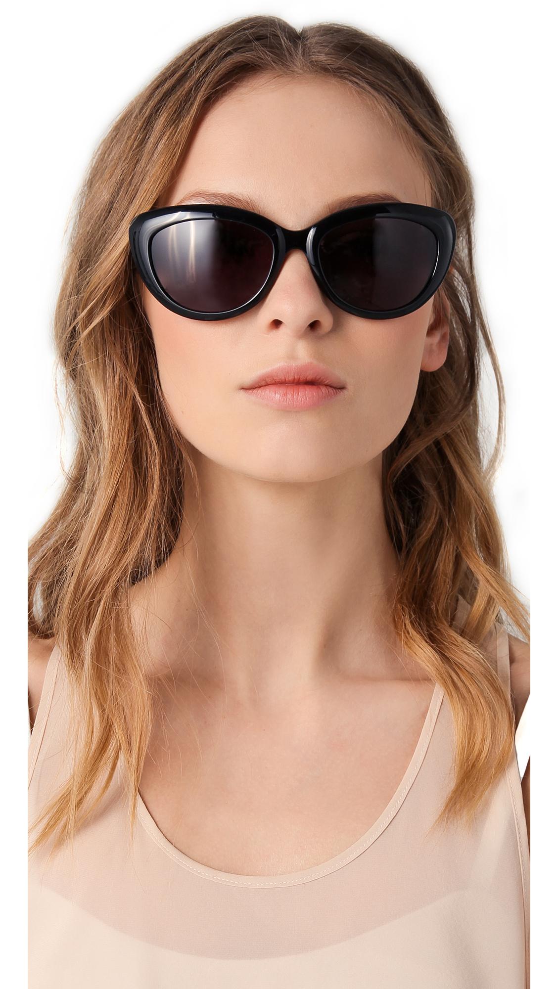 1784354b6ec9 Saint Laurent Rounded Cat Eye Glasses | SHOPBOP
