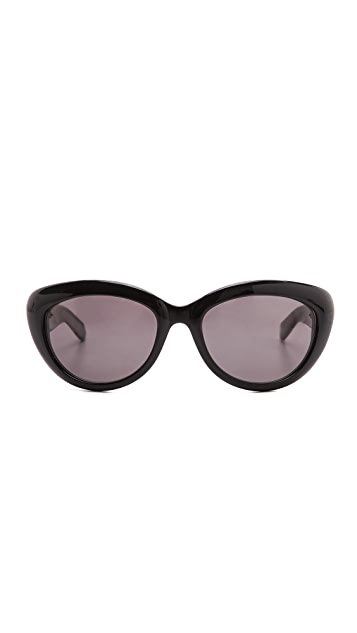 Saint Laurent Rounded Cat Eye Glasses