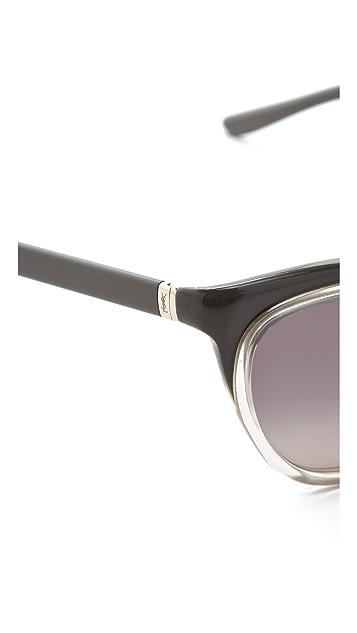 Saint Laurent Exaggerated Cat Eye Sunglasses