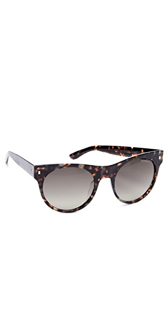 Saint Laurent Oversized Preppy Round Sunglasses