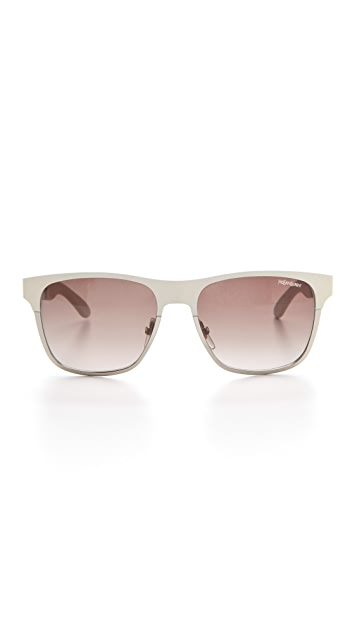Saint Laurent Metal Colorblock Sunglasses