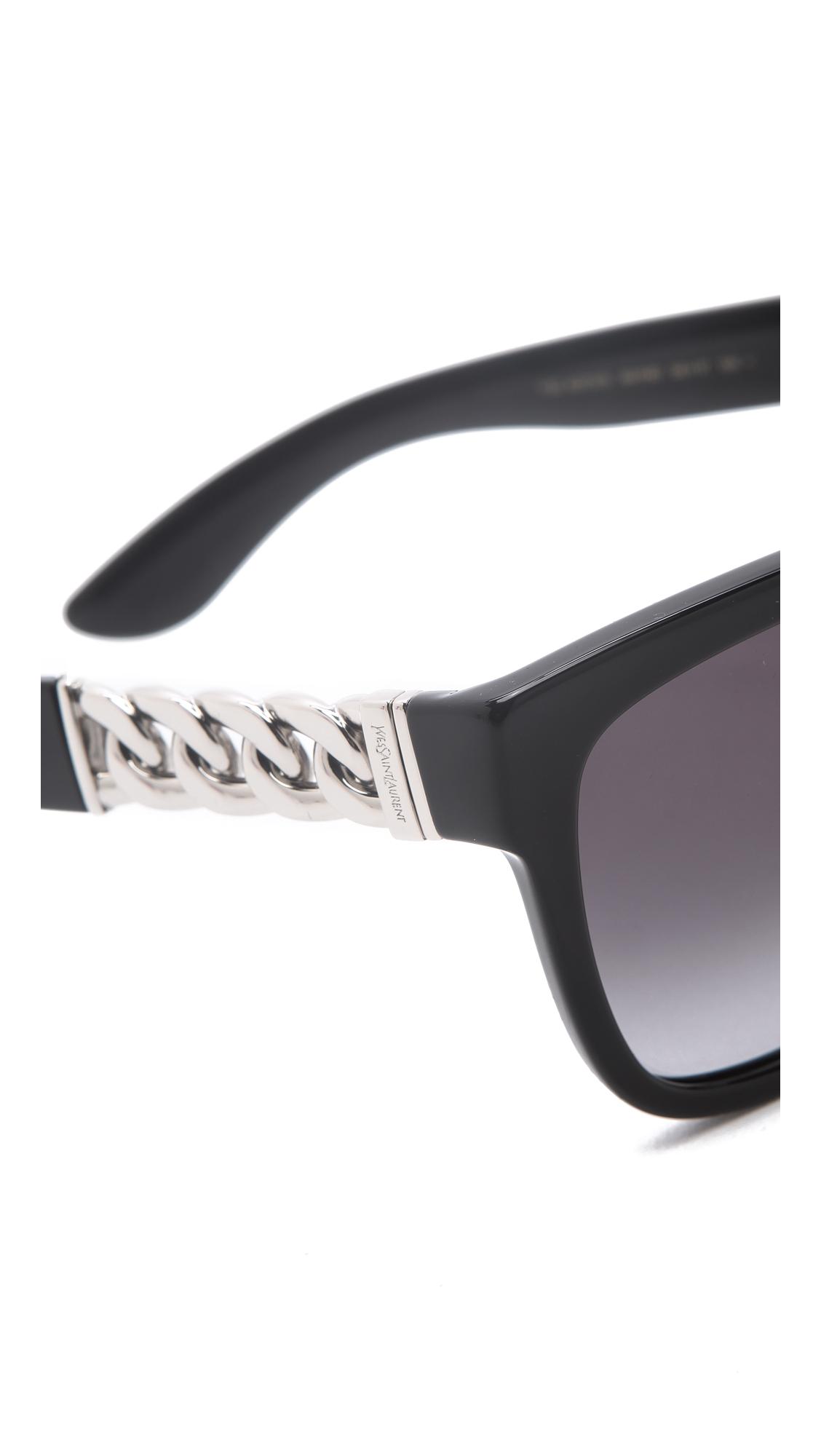 c1013b80b5ed Saint Laurent Chain Link Sunglasses | SHOPBOP