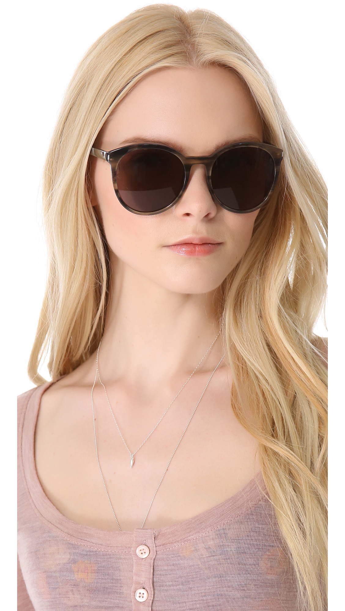 0ec5de1ddf3 Saint Laurent Classic Preppy Round Sunglasses | SHOPBOP