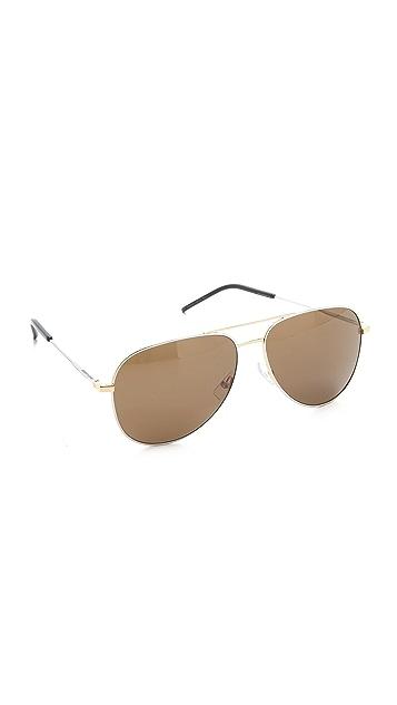 Saint Laurent Classic Metal Aviator Sunglasses