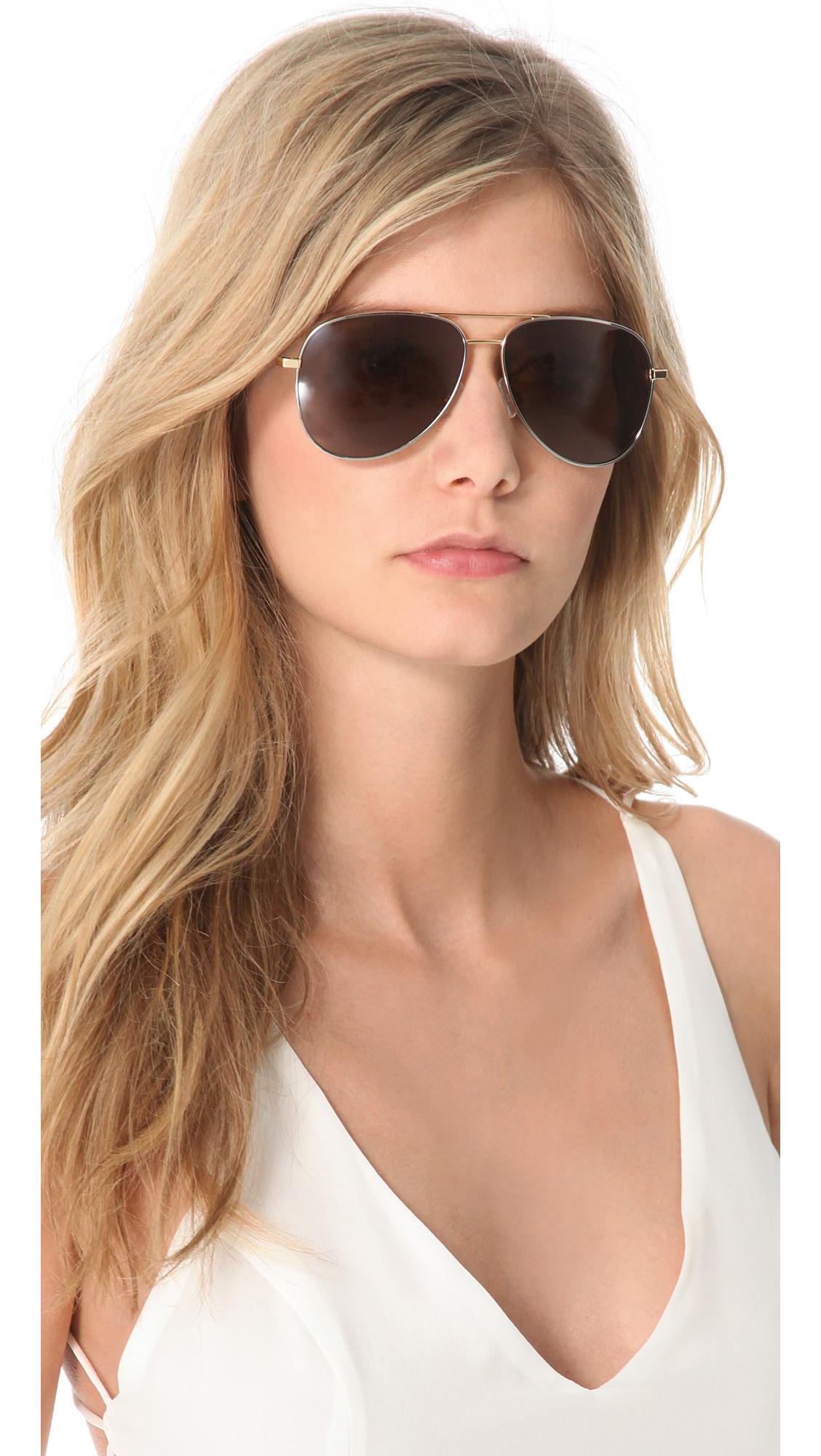 2ebb24443 Saint Laurent Classic Metal Aviator Sunglasses | SHOPBOP