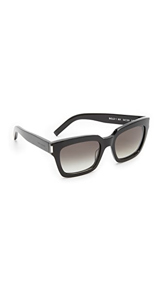 Saint Laurent Bold 1 Sunglasses - Black/Grey