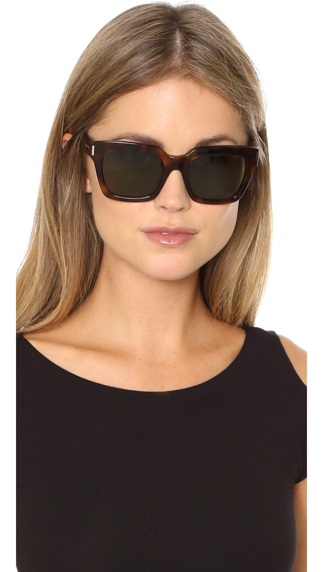 5e40858b68a Saint Laurent Bold 1 Mineral Glass Sunglasses