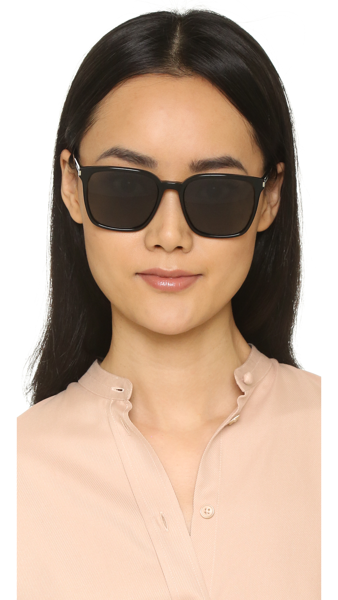 06a4d5c0a448 Saint Laurent SL 93 Mineral Glass Sunglasses | SHOPBOP