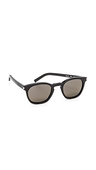 Saint Laurent SL 28 Mineral Glass Sunglasses at Shopbop