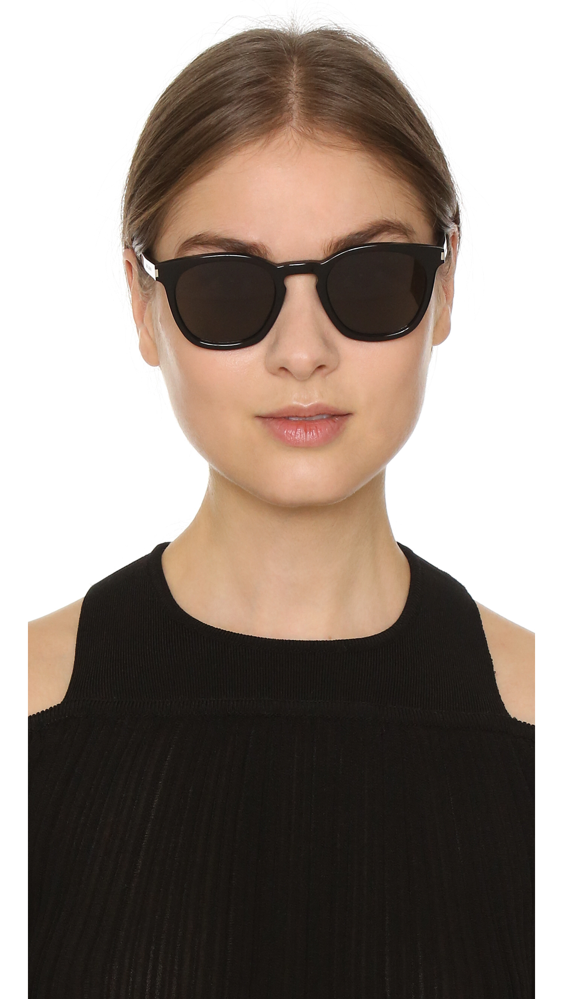 e9130fd76d6 Saint Laurent SL 28 Mineral Glass Sunglasses