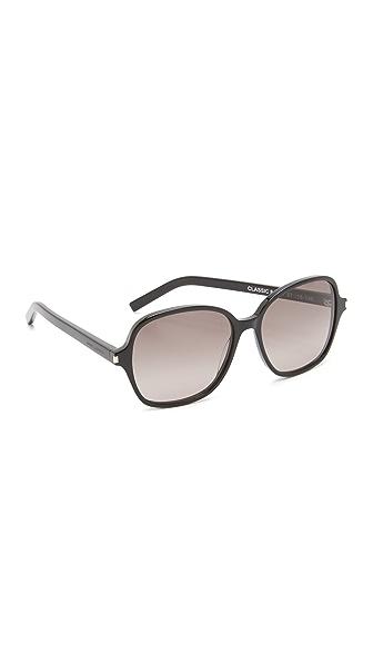 Saint Laurent Classic 8 Sunglasses - Black/Grey