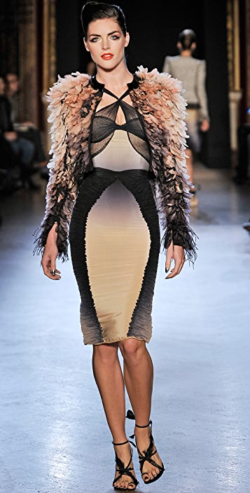 Zac Posen Ombre Silk Dress