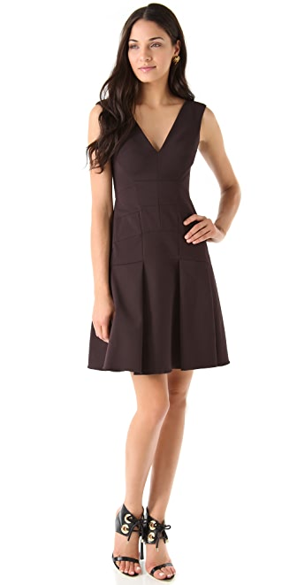 Zac Posen Stretch Suiting Dress