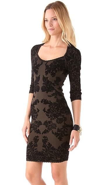 Zac Posen Intarsia Dress