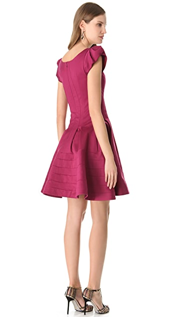 Zac Posen Stretch Sateen Dress