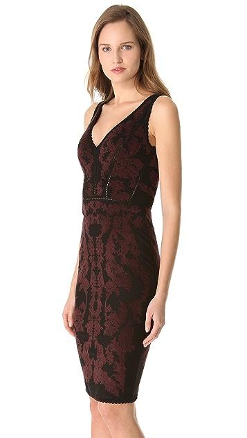 Zac Posen Bondage Jacquard Dress