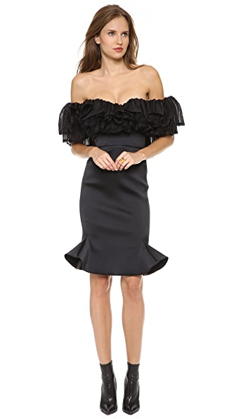 Zac Posen Ruffle Strapless Dress