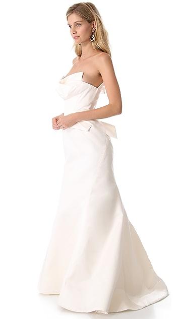 Zac Posen Silk Bustier Gown