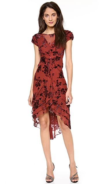 Zac Posen Silk Short Sleeve Dress