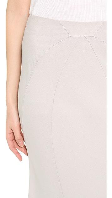 Zac Posen Crepe Maxi Skirt