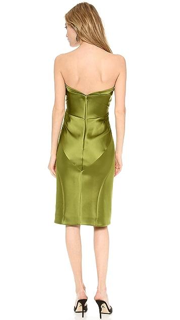 Zac Posen Strapless Cocktail Dress