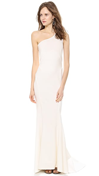 Zac Posen One Shoulder Gown
