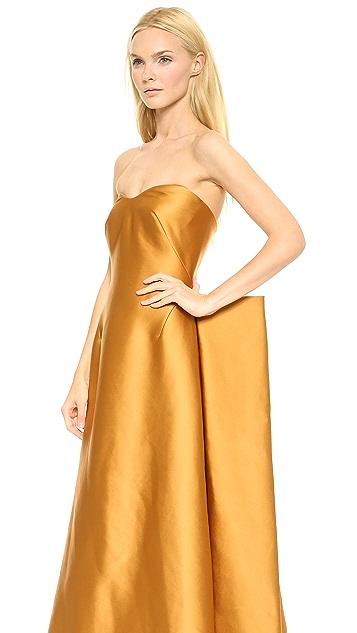 Zac Posen Stretch Duchesse Strapless Gown