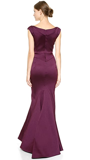 Zac Posen Stretch Duchesse Gown
