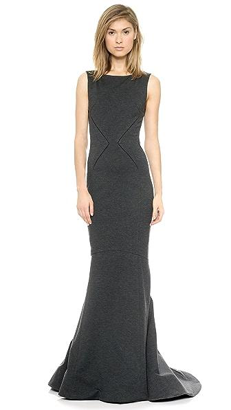 Zac Posen Sleeveless Jersey Gown