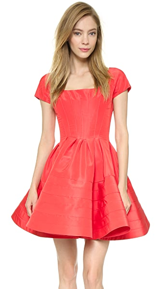 Zac Posen Faille Circle Dress