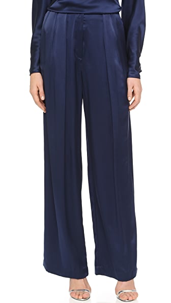 Zac Posen Silk Charmeuse Pants
