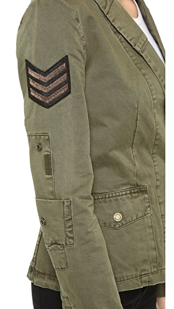 Zadig & Voltaire Virginia Grunge Army Jacket