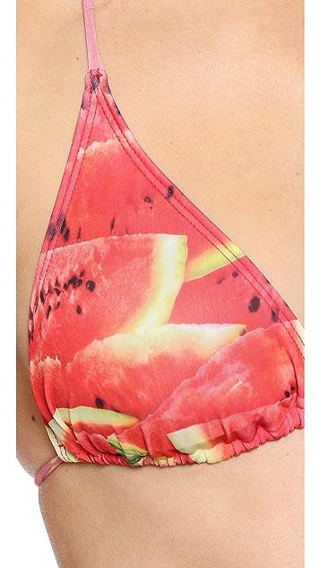 Terez Watermelon Triangle Bikini Top