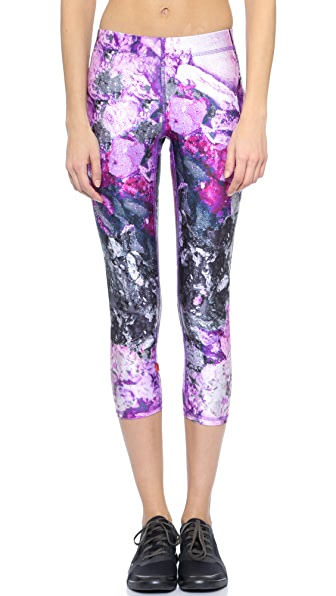 Terez Crushed Makeup Performance Capris - Purple Crushed Make Up