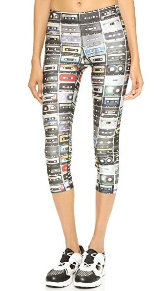 Terez Mix Tapes Performance Capri Leggings - Multi