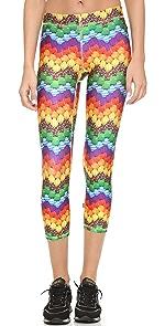 Candy Chevron Capri Leggings                Zara Terez
