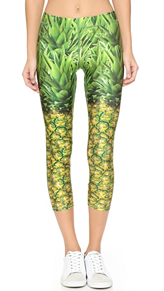 Terez Natural Pineapple Performance Leggings