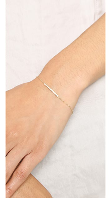 Zoe Chicco 14k Gold Tiny Bezel Bar Bracelet