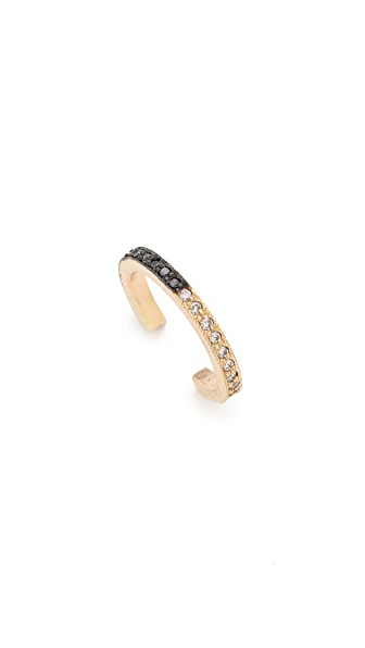Zoe Chicco 14k Gold Reversible Ear Cuff - Gold/Black/Clear