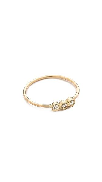 Zoe Chicco 3 Bezel Set Ring