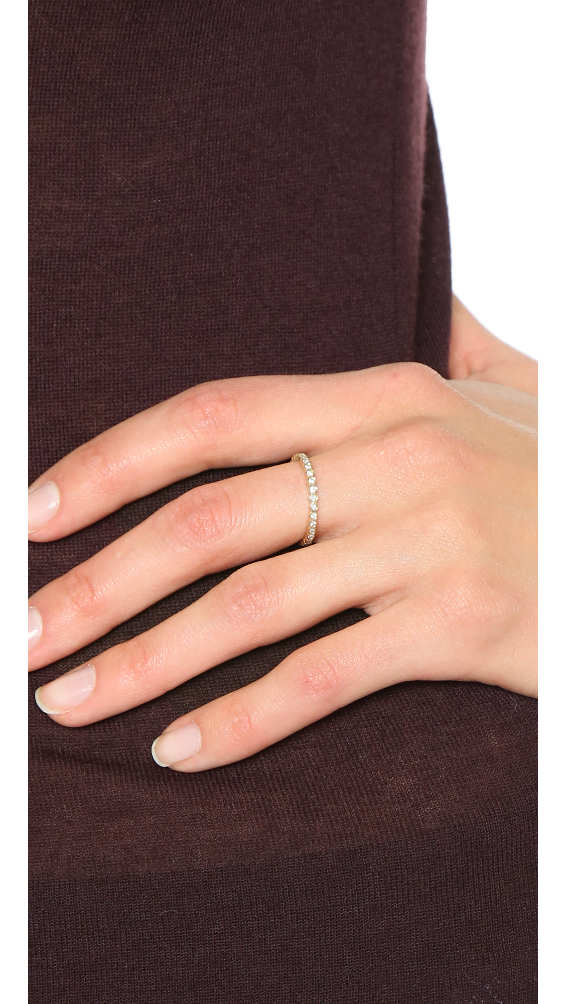 Zoë Chicco Bezel Diamonds Pinky Ring YTKGbF